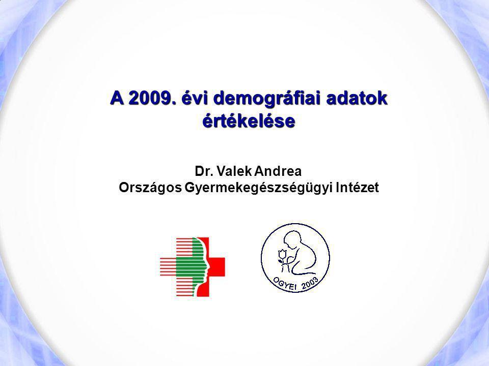 A 2009. évi demográfiai adatok értékelése