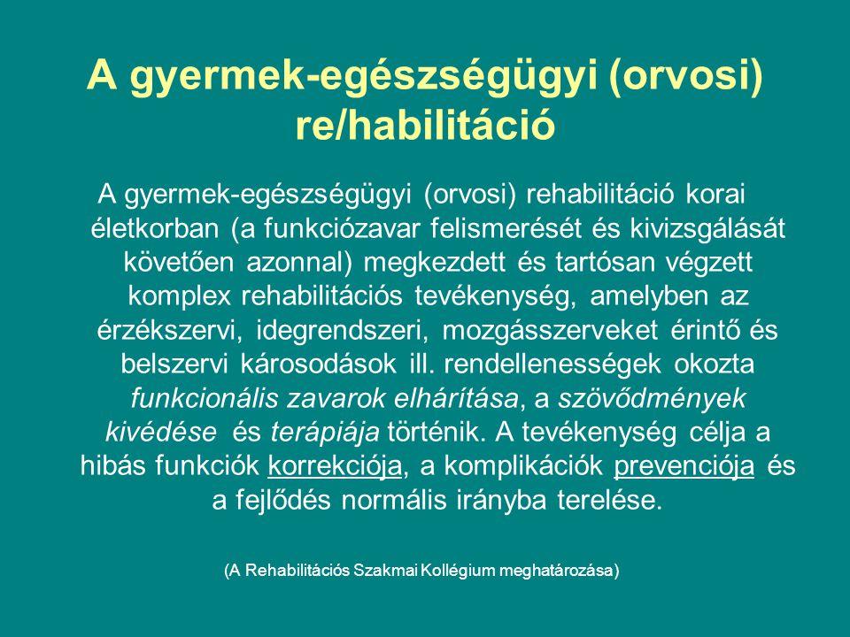A gyermek-egészségügyi (orvosi) re/habilitáció