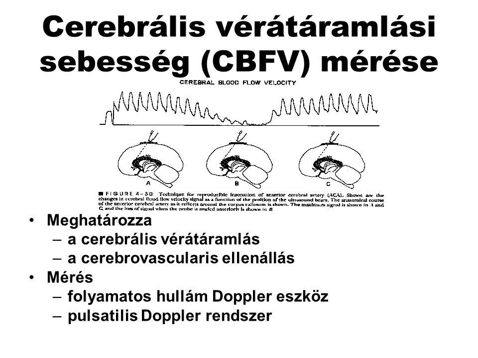 Cerebrális vérátáramlási sebesség (CBFV) mérése