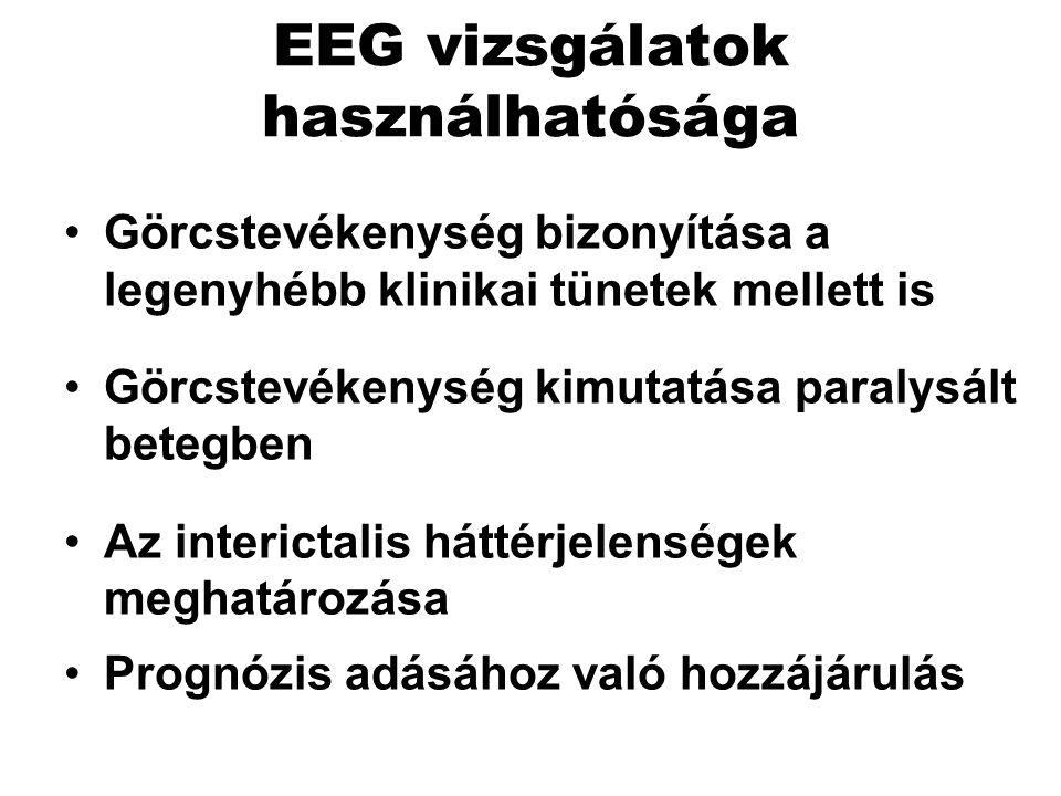 EEG vizsgálatok használhatósága