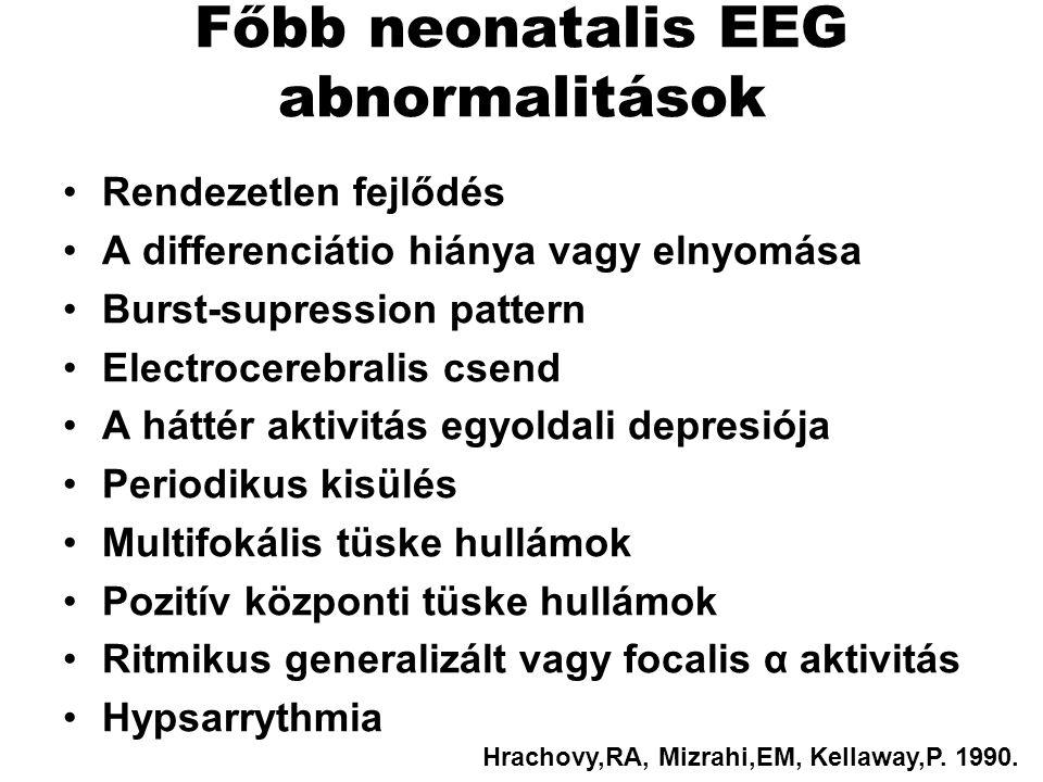 Főbb neonatalis EEG abnormalitások