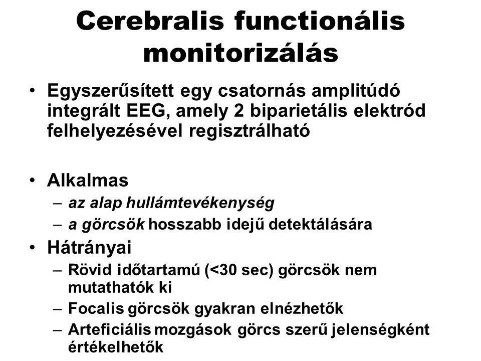 Cerebralis functionális monitorizálás