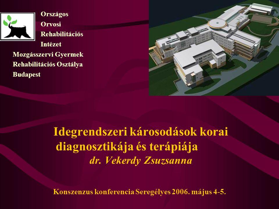 Országos Orvosi. Rehabilitációs. Intézet. Mozgásszervi Gyermek. Rehabilitációs Osztálya. Budapest.