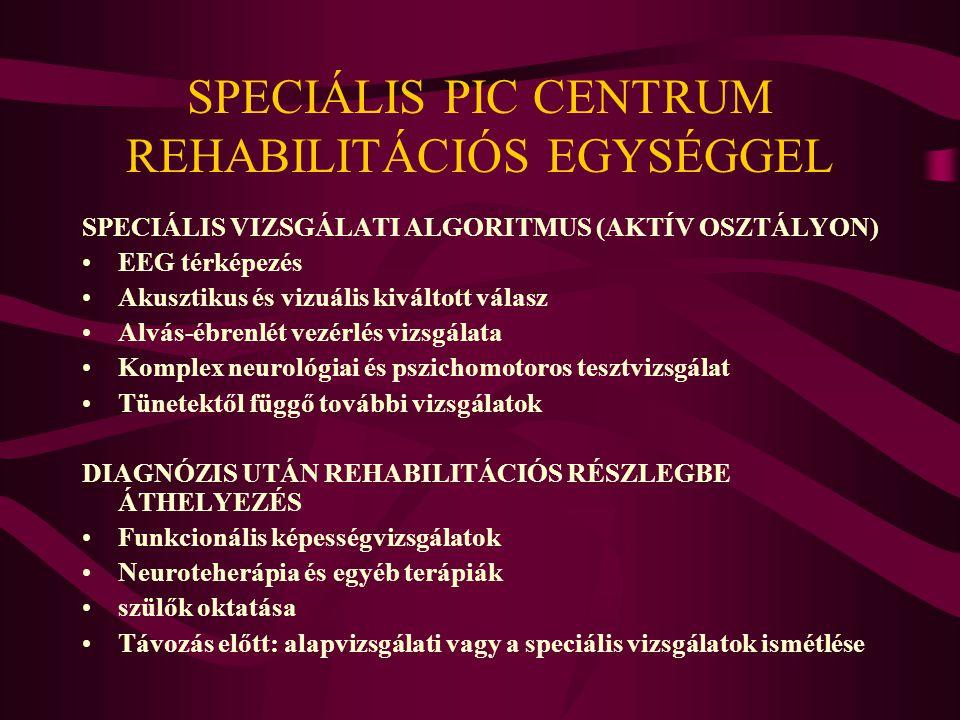 SPECIÁLIS PIC CENTRUM REHABILITÁCIÓS EGYSÉGGEL