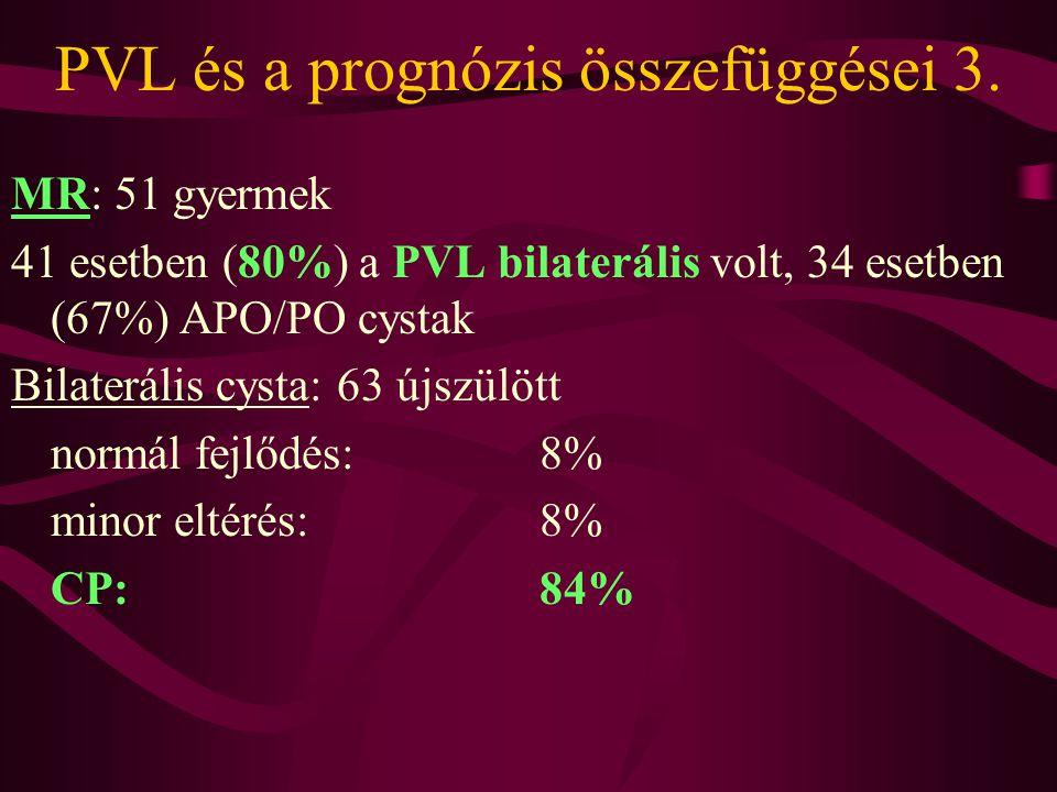 PVL és a prognózis összefüggései 3.