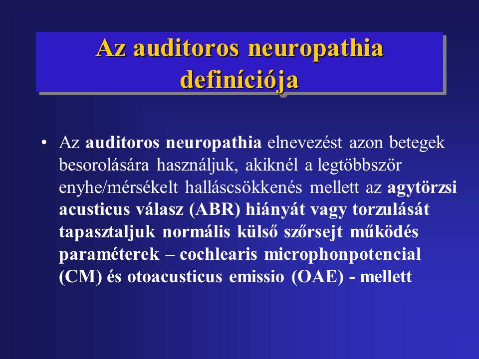 Az auditoros neuropathia definíciója