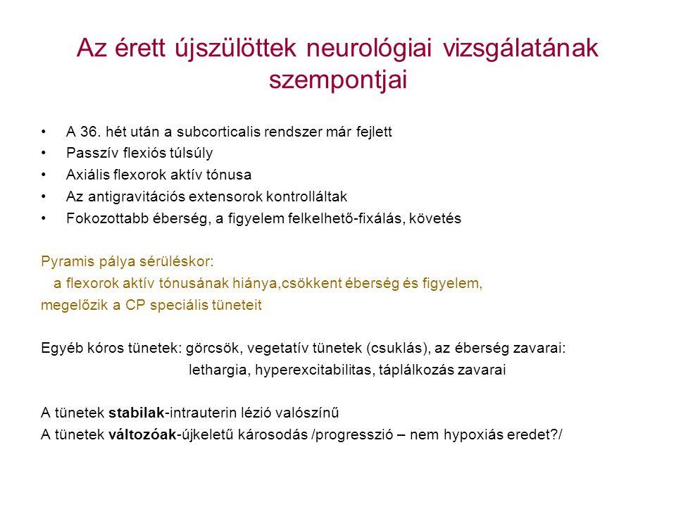 Az érett újszülöttek neurológiai vizsgálatának szempontjai