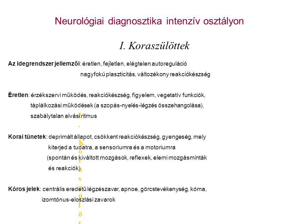 Neurológiai diagnosztika intenzív osztályon