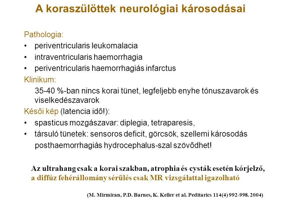 A koraszülöttek neurológiai károsodásai