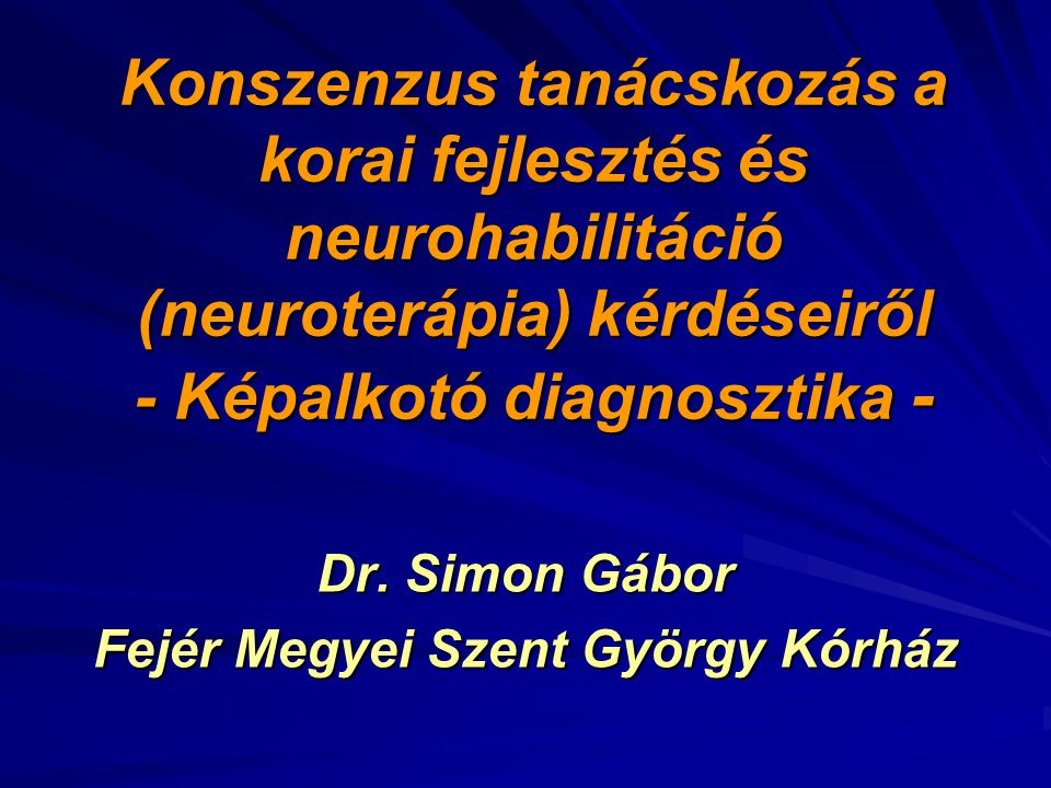 Dr. Simon Gábor Fejér Megyei Szent György Kórház