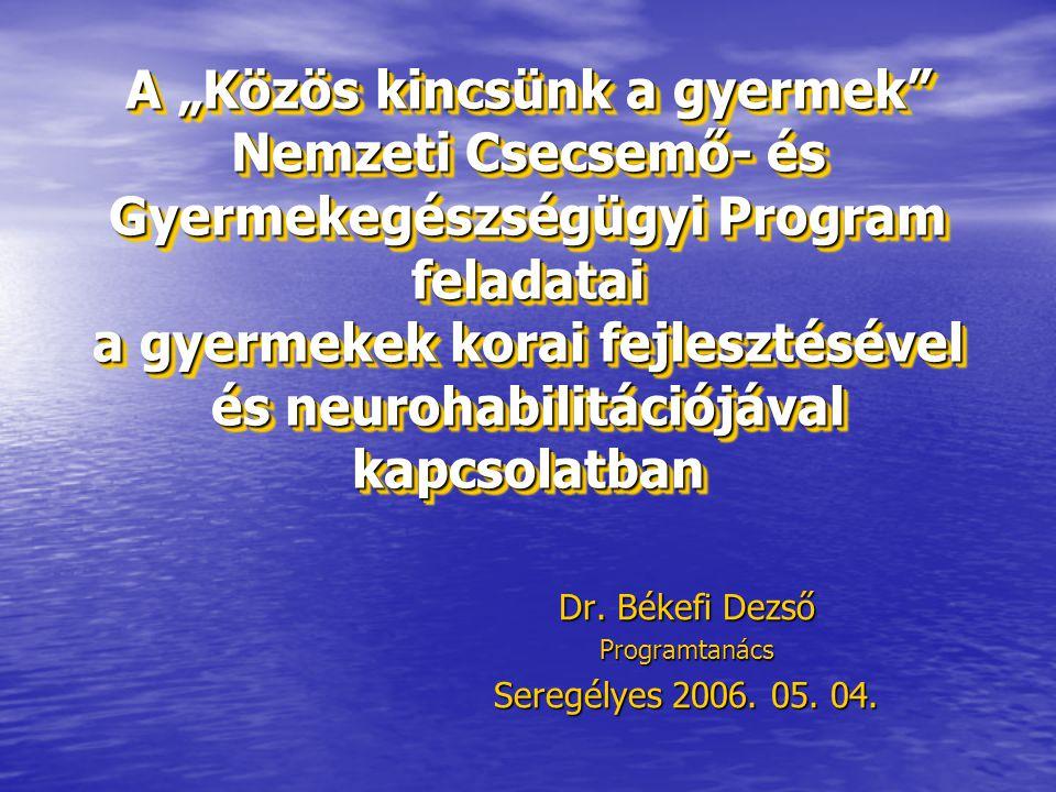 Dr. Békefi Dezső Programtanács Seregélyes 2006. 05. 04.