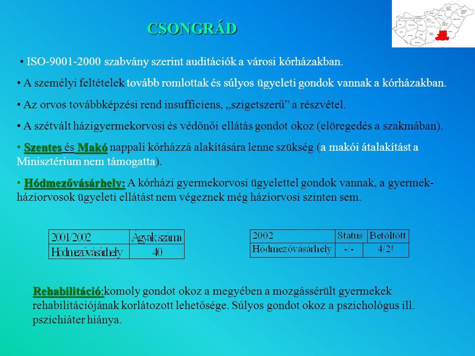 CSONGRÁD • ISO-9001-2000 szabvány szerint auditációk a városi kórházakban.