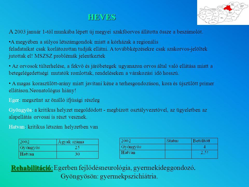 HEVES Rehabilitáció: Egerben fejlődésneurológia, gyermekideggondozó.