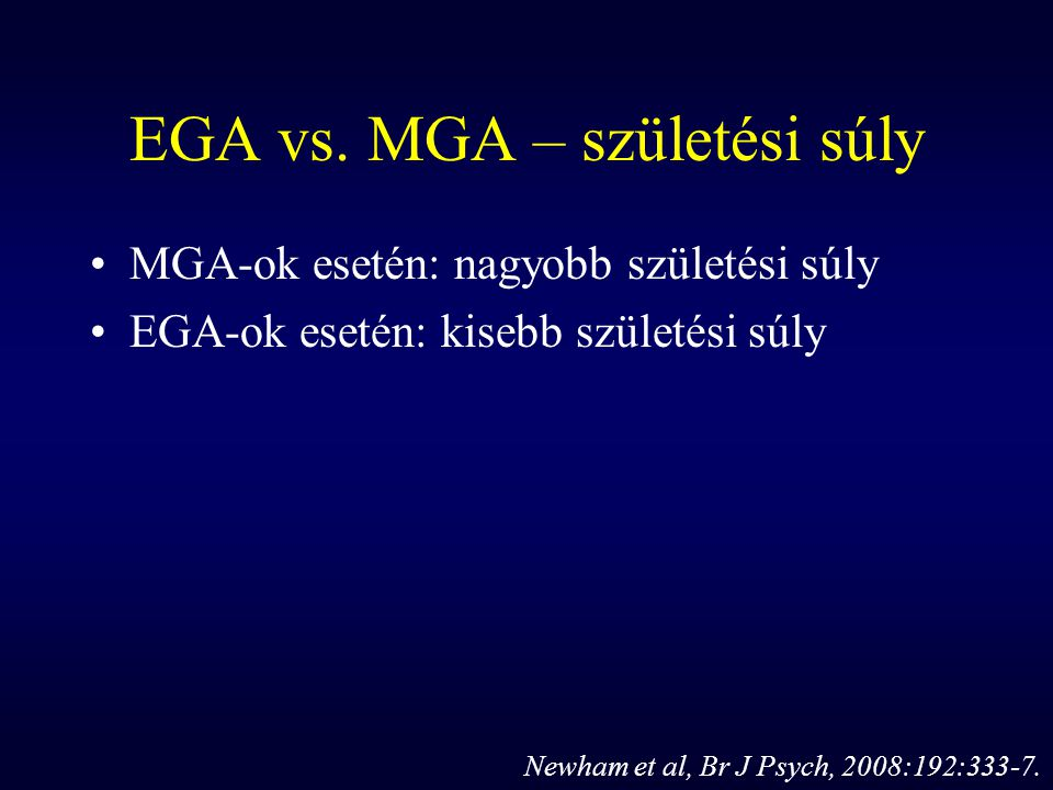 EGA vs. MGA – születési súly