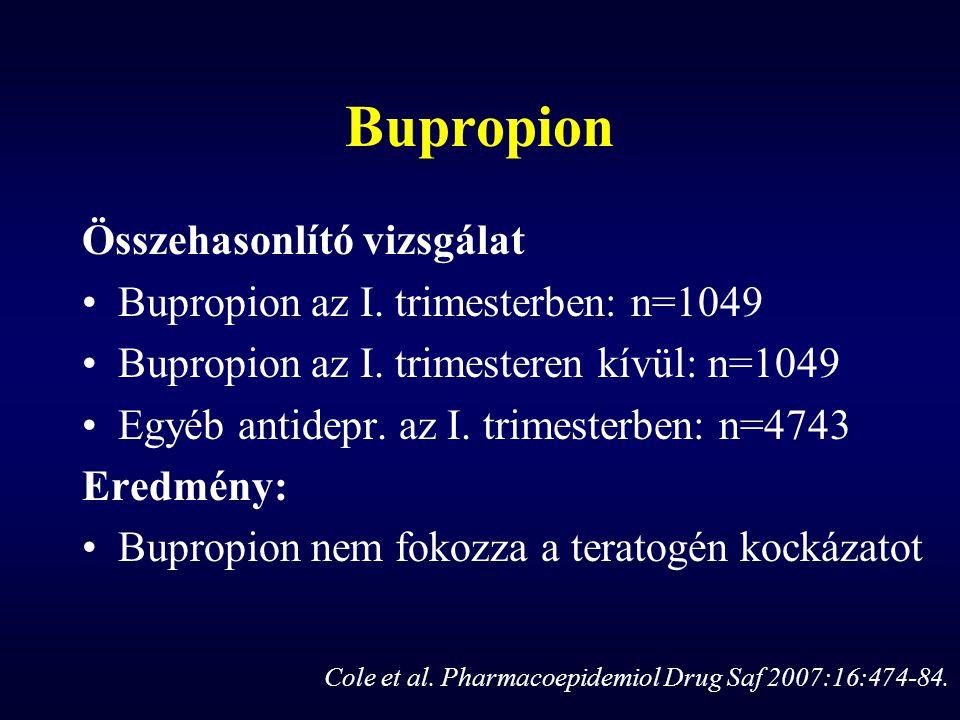 Bupropion Összehasonlító vizsgálat