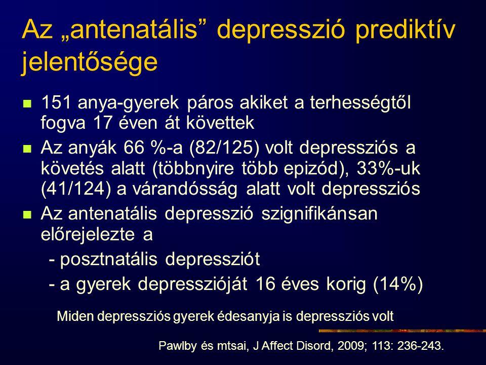 """Az """"antenatális depresszió prediktív jelentősége"""