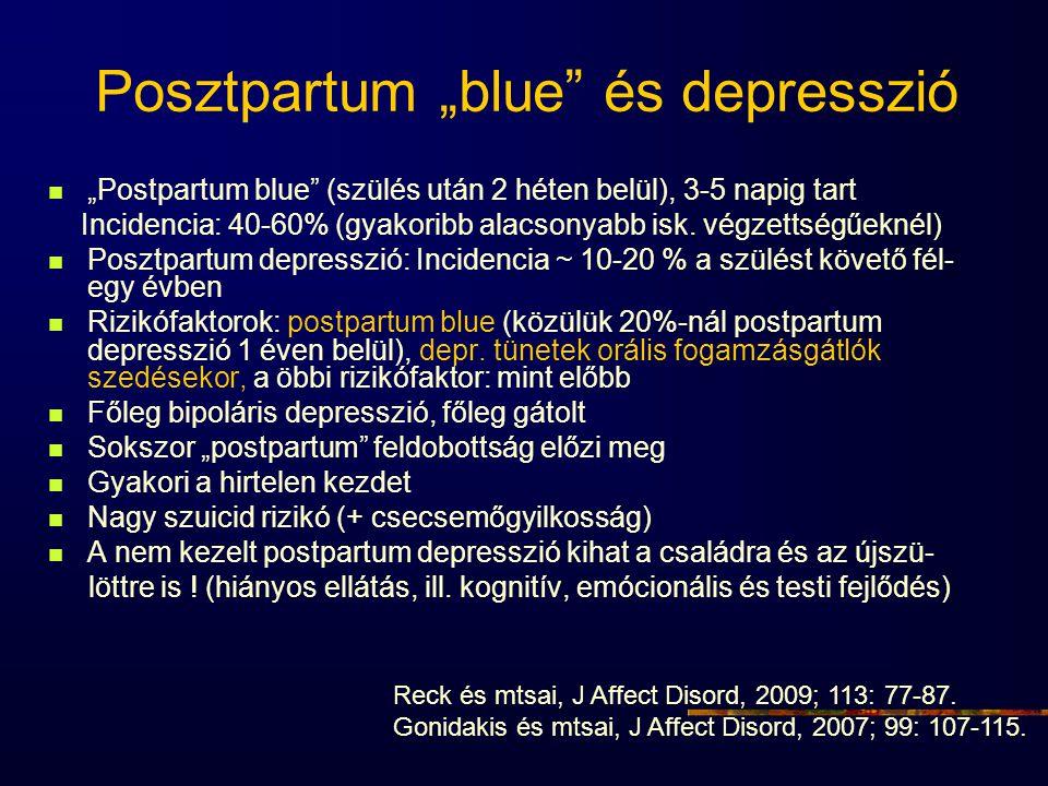 """Posztpartum """"blue és depresszió"""