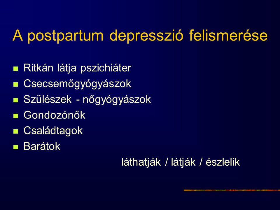 A postpartum depresszió felismerése