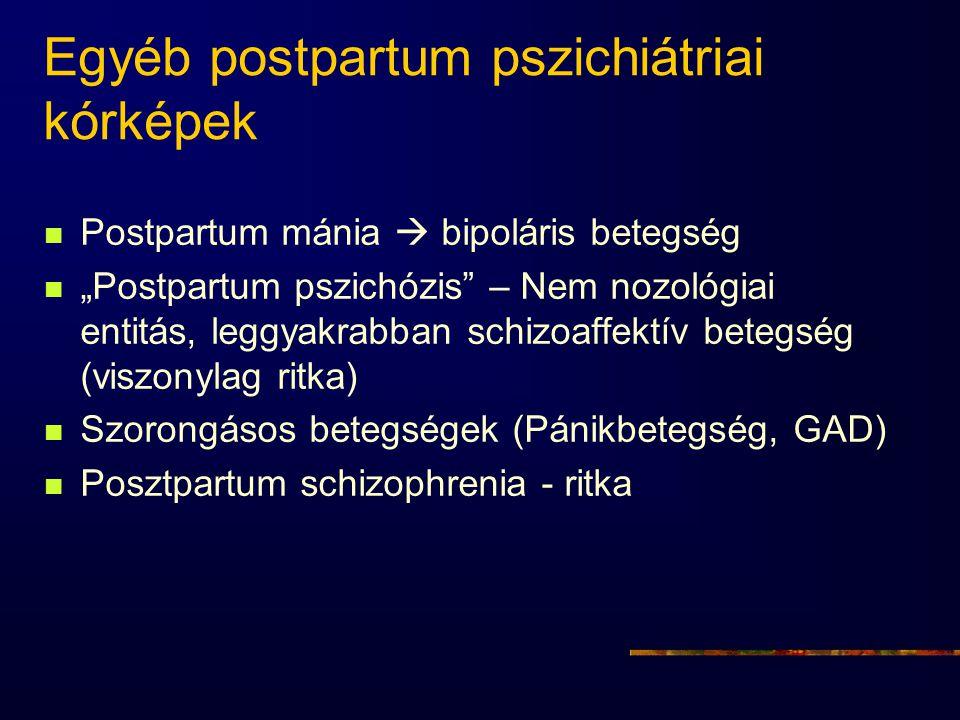 Egyéb postpartum pszichiátriai kórképek