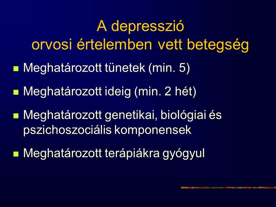 A depresszió orvosi értelemben vett betegség