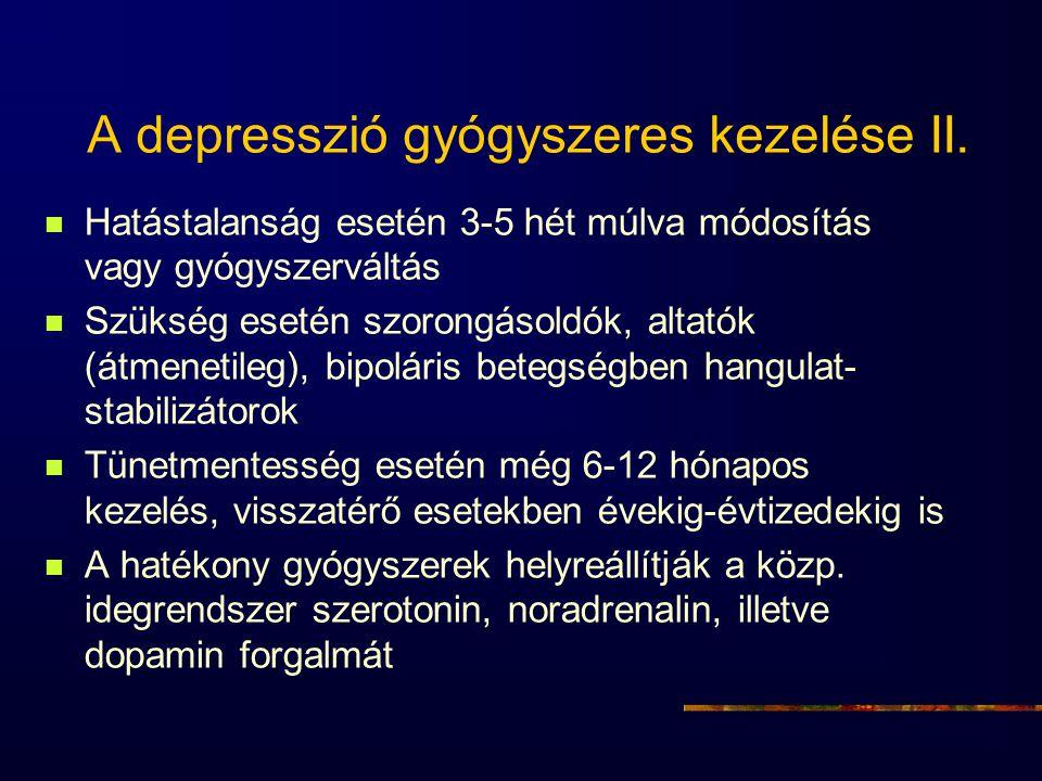 A depresszió gyógyszeres kezelése II.