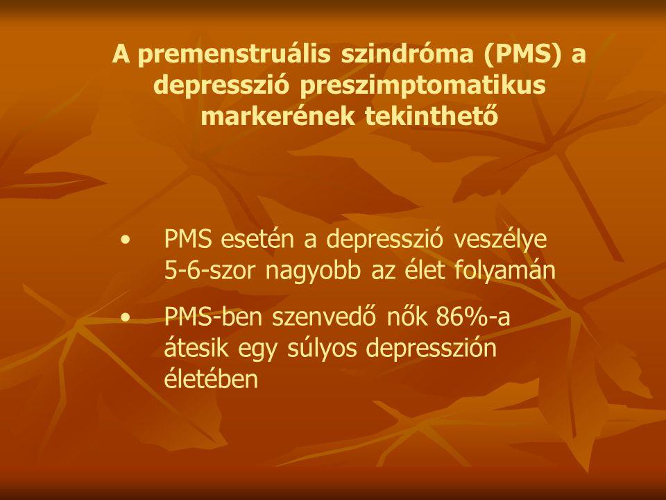 A premenstruális szindróma (PMS) a depresszió preszimptomatikus markerének tekinthető