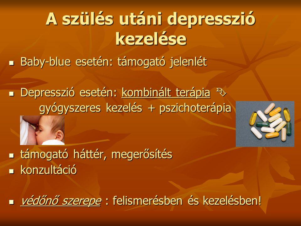 A szülés utáni depresszió kezelése
