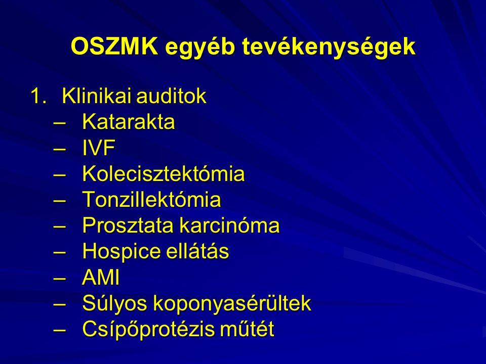 OSZMK egyéb tevékenységek
