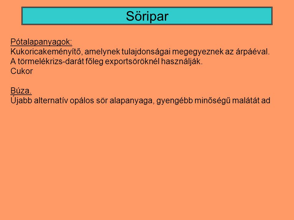 Söripar Pótalapanyagok: