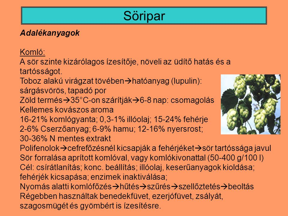 Söripar Adalékanyagok Komló: