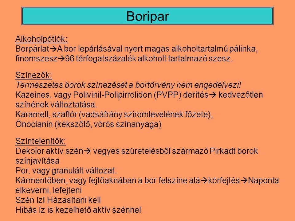 Boripar Alkoholpótlók: