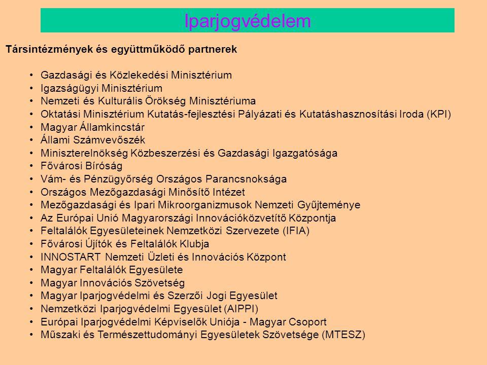 Iparjogvédelem Társintézmények és együttműködő partnerek