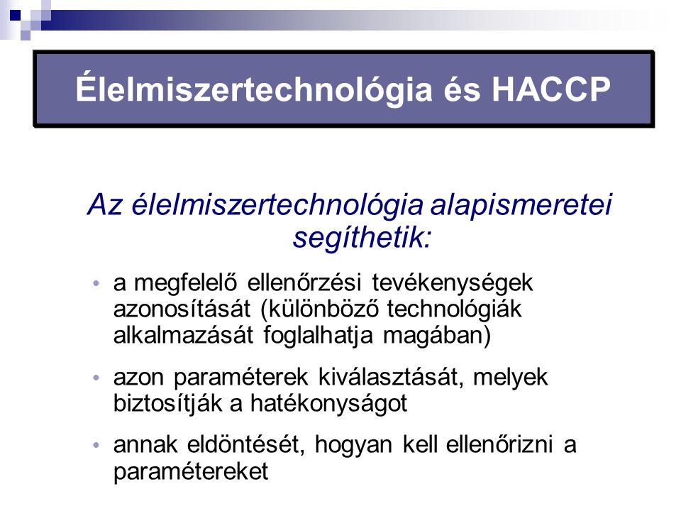 Élelmiszertechnológia és HACCP