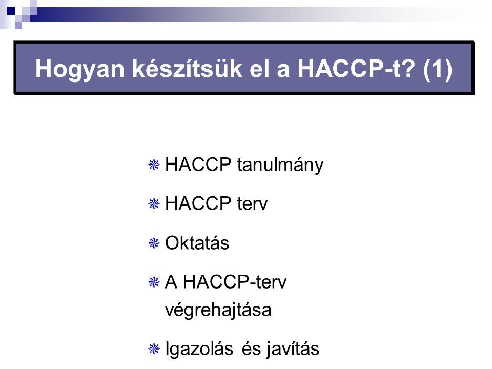 Hogyan készítsük el a HACCP-t (1)