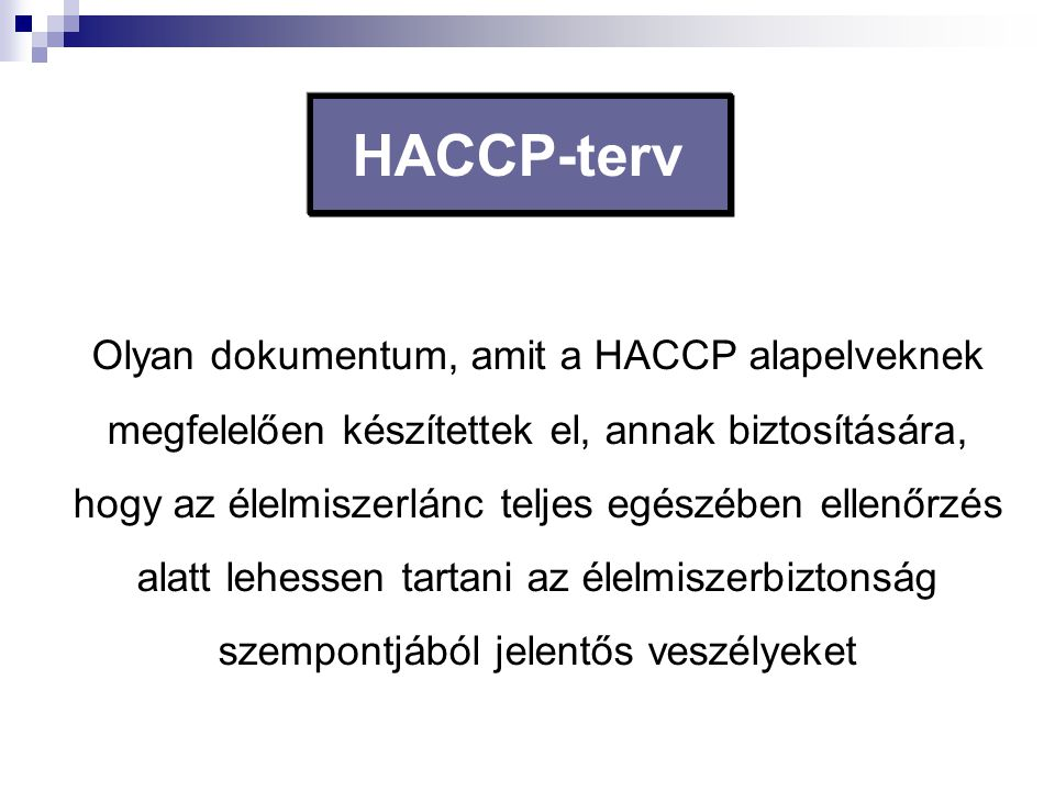 HACCP-terv