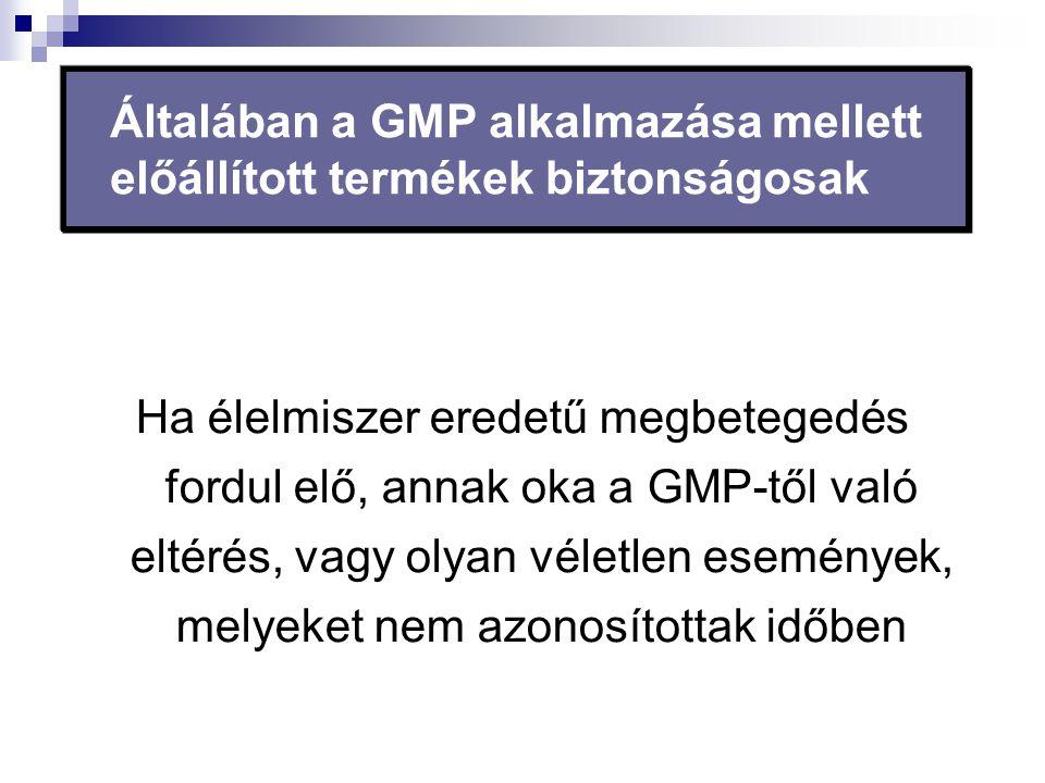 Általában a GMP alkalmazása mellett előállított termékek biztonságosak