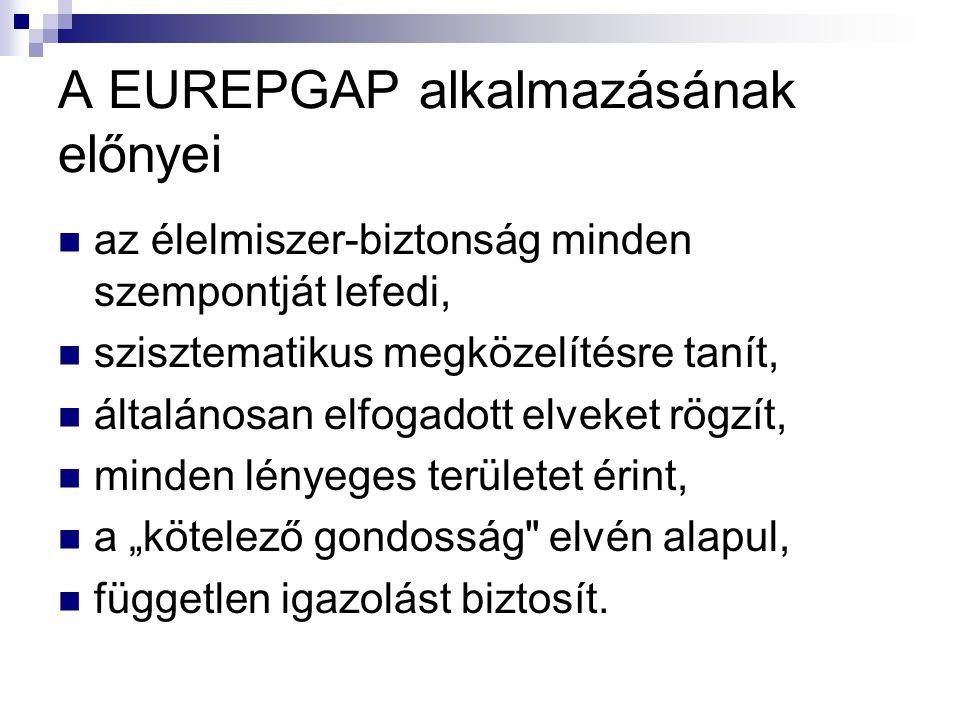A EUREPGAP alkalmazásának előnyei