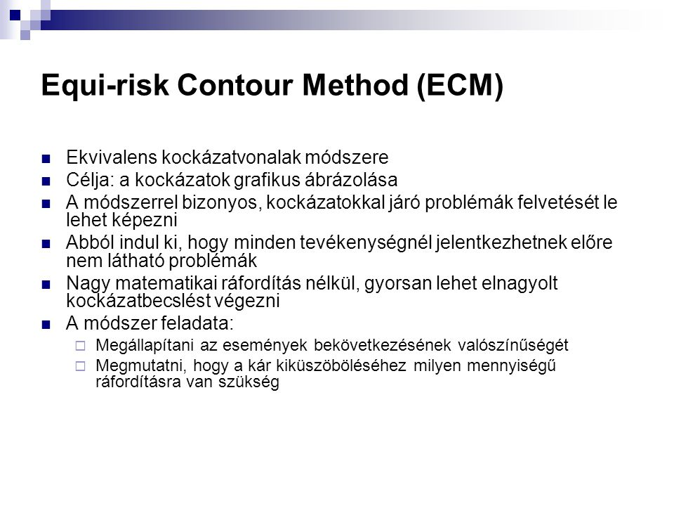Equi-risk Contour Method (ECM)