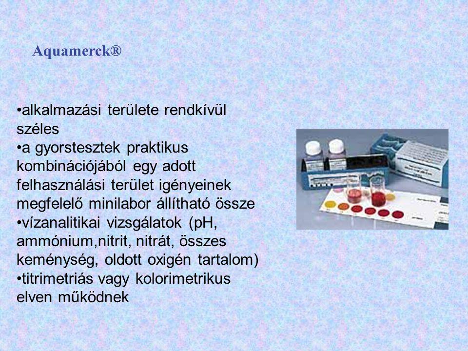 Aquamerck® alkalmazási területe rendkívül széles.