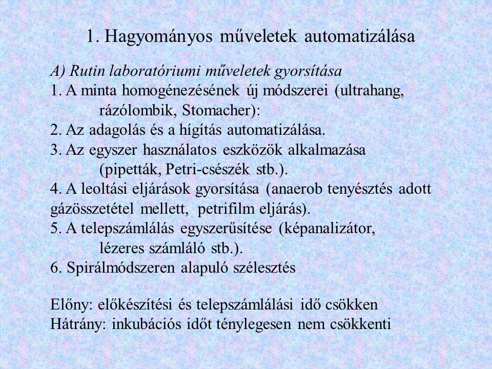 1. Hagyományos műveletek automatizálása