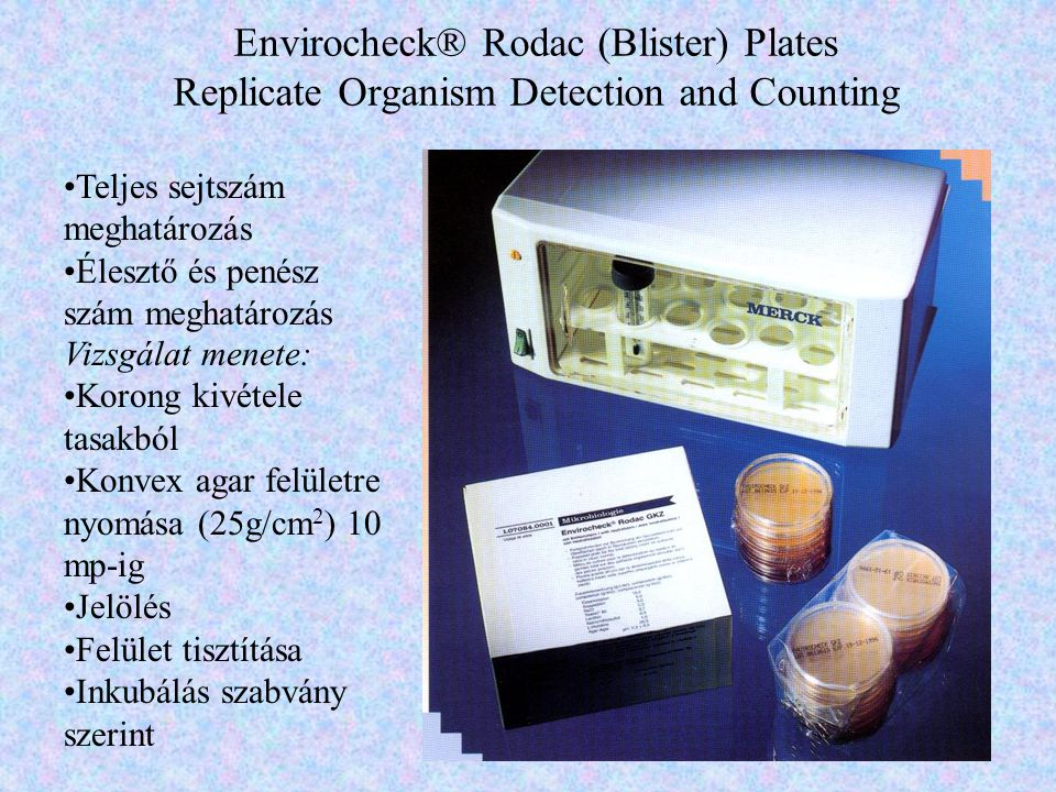 Envirocheck® Rodac (Blister) Plates Replicate Organism Detection and Counting