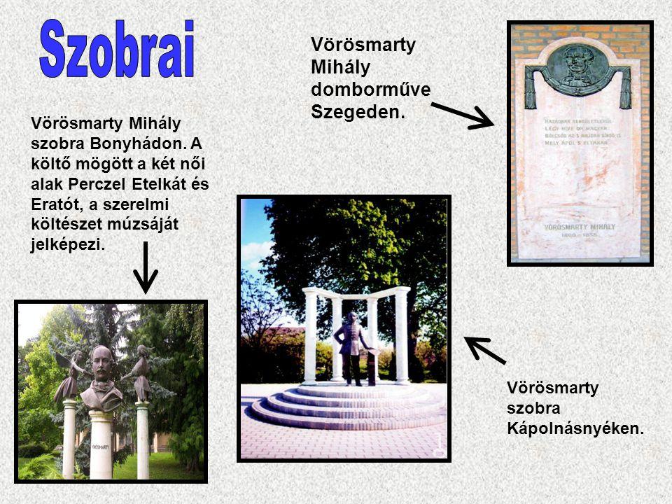 Szobrai Vörösmarty Mihály domborműve Szegeden.