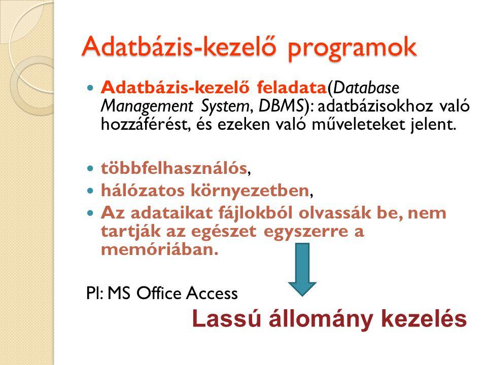 Adatbázis-kezelő programok