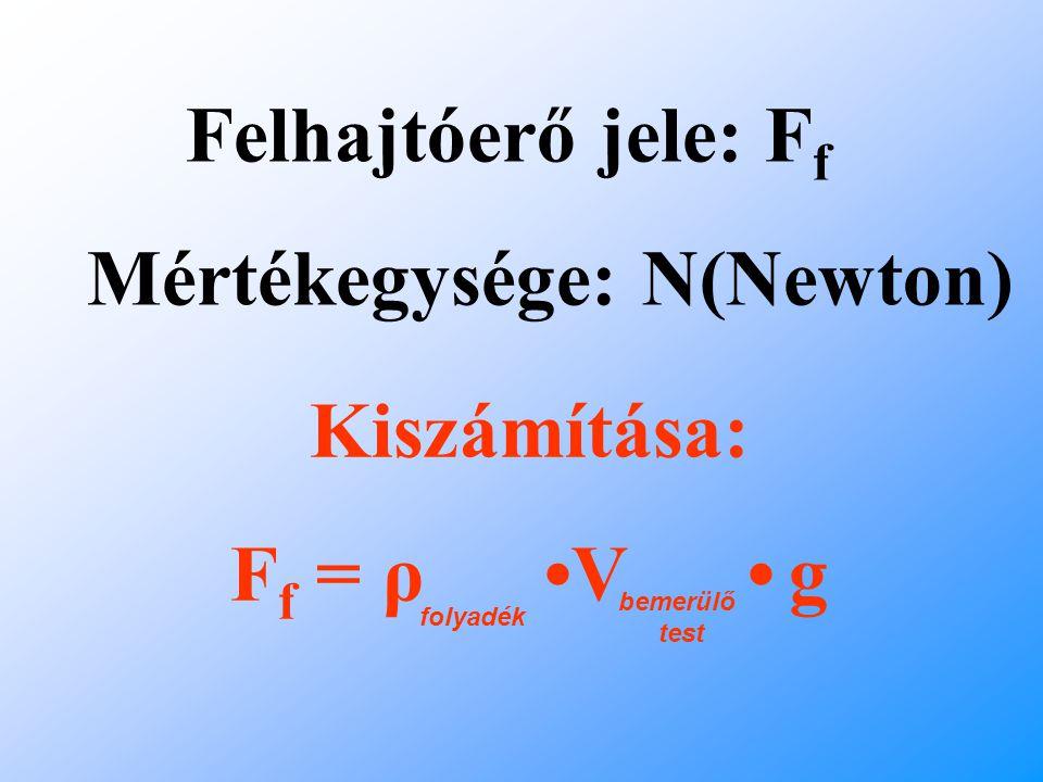 Mértékegysége: N(Newton)