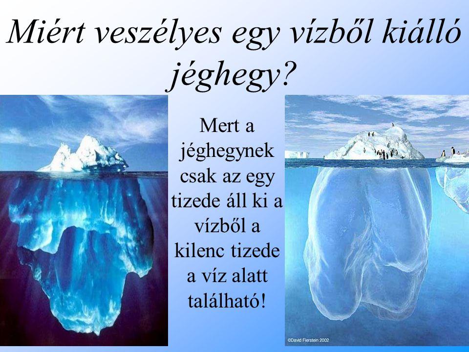 Miért veszélyes egy vízből kiálló jéghegy