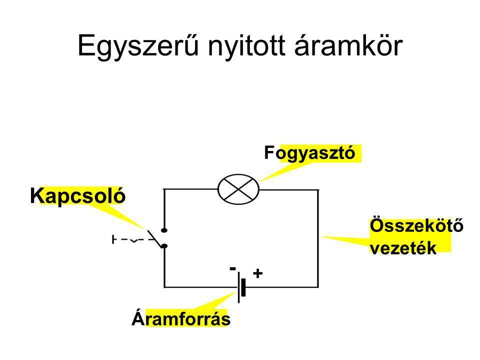 Egyszerű nyitott áramkör