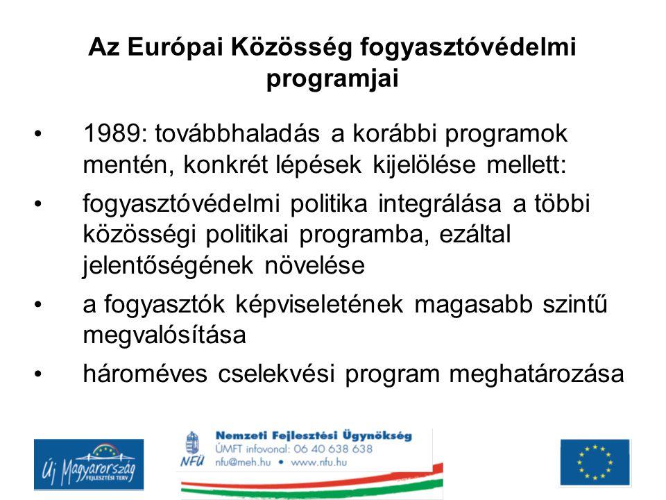 Az Európai Közösség fogyasztóvédelmi programjai