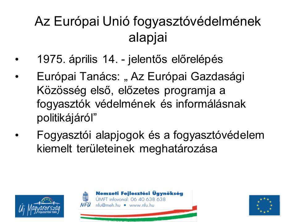 Az Európai Unió fogyasztóvédelmének alapjai