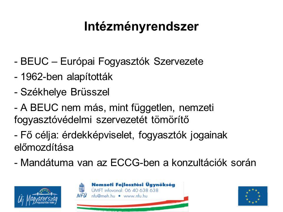 Intézményrendszer - BEUC – Európai Fogyasztók Szervezete