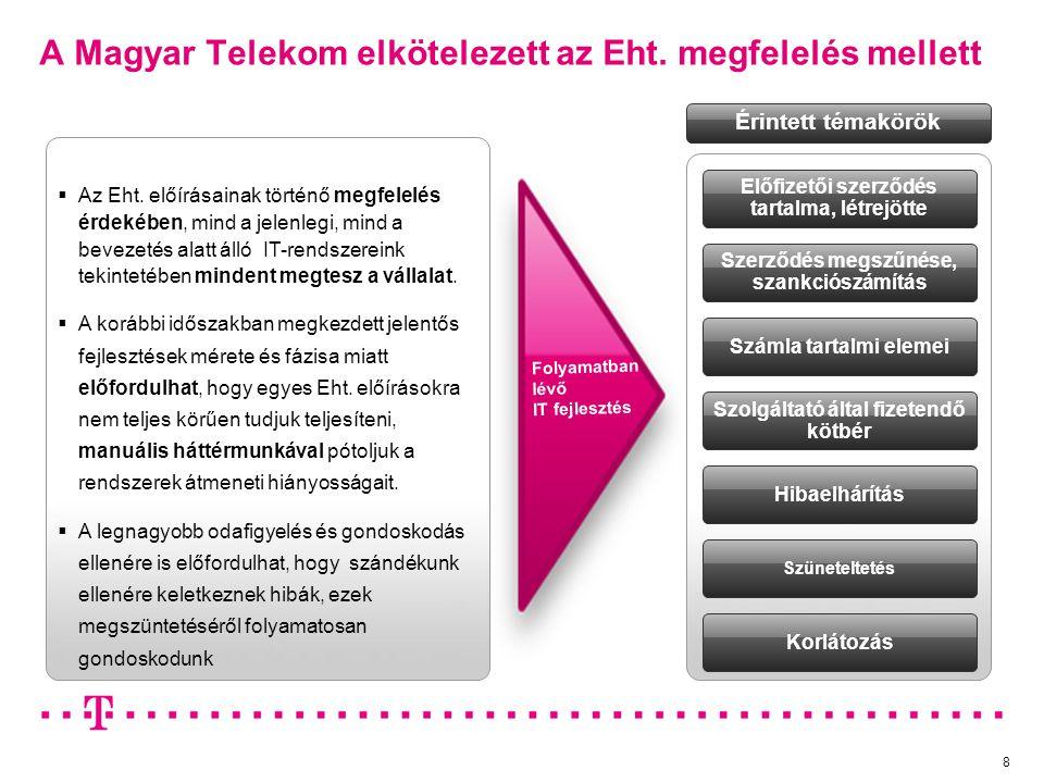 A Magyar Telekom elkötelezett az Eht. megfelelés mellett